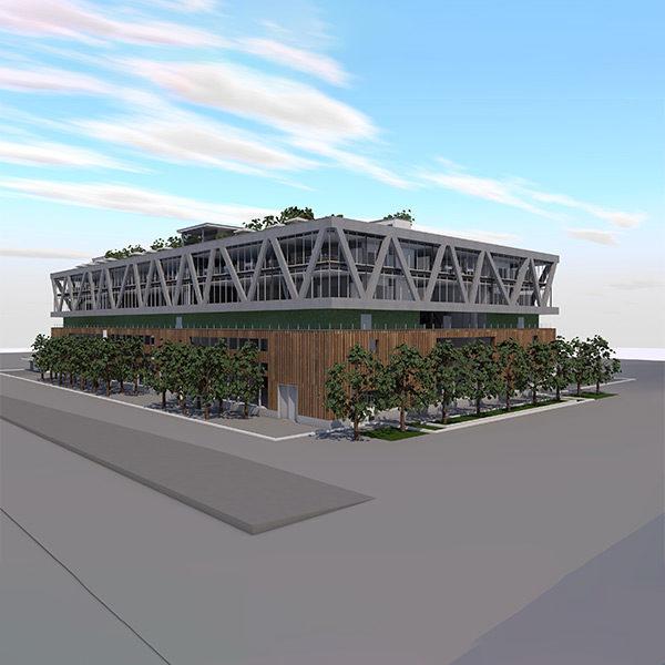 Kompetenzzentrum für Industrie 4.0, Schorenareal, Arlesheim – Gebäude 1