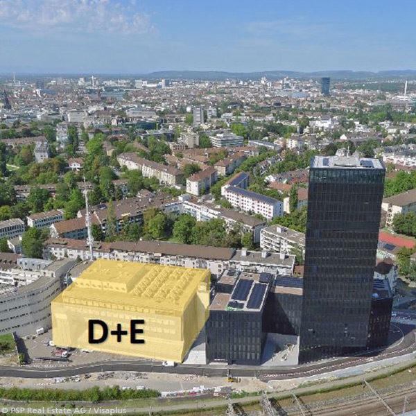 Autonomisierung Betriebsgebäude Baufeld D+E, Grosspeterareal Basel